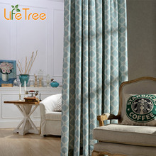 Chinese Lantern Printed Modern Blackout Curtains For Living Room Bedroom Window Curtain Custom Made 2 Colors