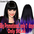 Длинный Фиолетовый Парик Натуральных Волос Женщины Парики Длинные Прямые Синтетический парики Для Чернокожих Женщин Дешевые Парики Для Женщин Теплоизоляционный волос