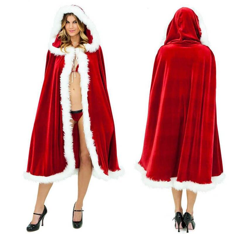Women   coat   2018 female sweet christmas hooded cape slim long warm fur collar winter   coats   women   down   jacket christmas cloak