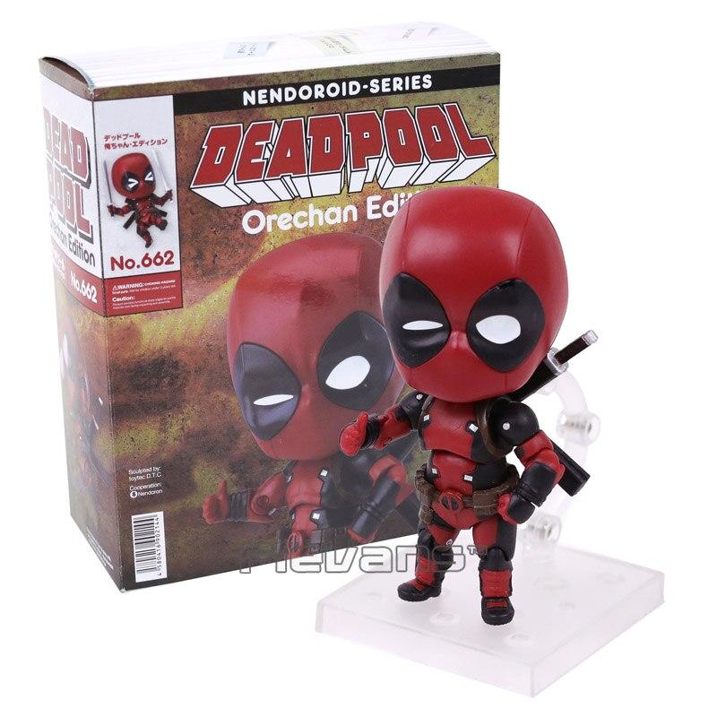 купить  Nendoroid Series NO.662 Deadpool Orechan Edition PVC Action Figure Collectible Model Toy 10cm  по цене 1053.04 рублей