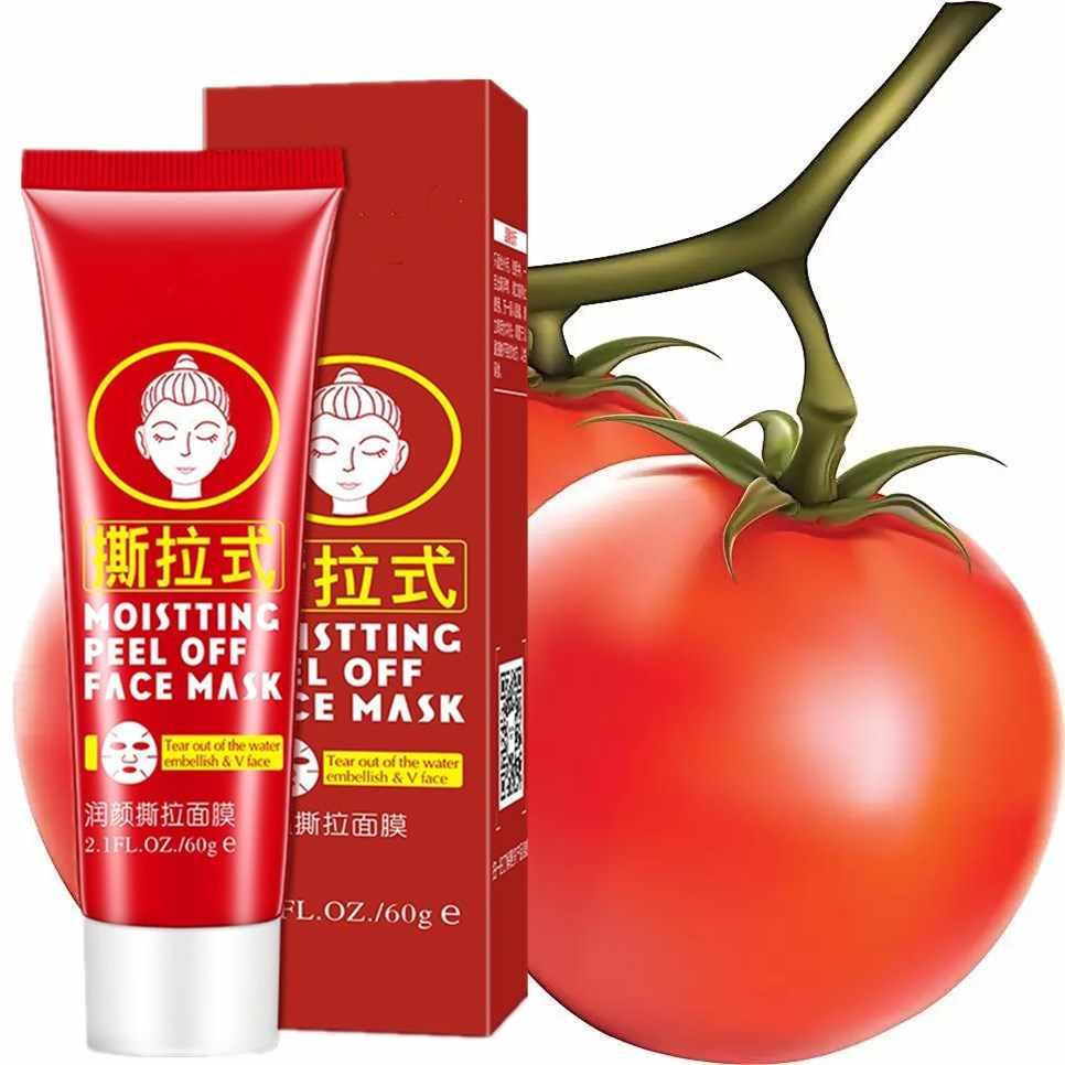 60 مللي 100% النقي الطبيعي الطماطم جوهر قناع الوجه لتبييض رفع الجمال العناية بالوجه الجمال أقنعة الأبيض