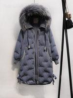 Новинка 2019, женский пуховик с шапкой, большие размеры 5xl, Женское пальто, длинное зимнее пальто, Женское пальто Kawaii Harajuku, теплое пальто для же