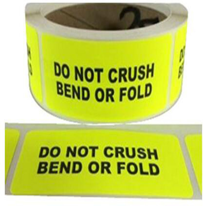 Target Stickers repaired target sticker stationary stickerDo NOT CrushBend Labels Stickers Neon Yellow Fluorescent Caution