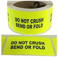 Target Stickers repaired target sticker stationary stickerDo NOT CrushBend Labels Stickers Neon Yellow Fluorescent Caution bbloop do not bend self inking stamp rectangular laser engraved red