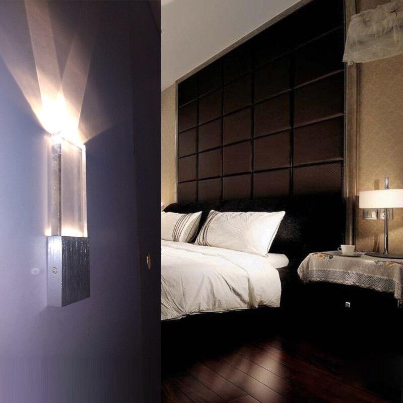 Bar indoor rectanglar Led lighting Acrylic wall lamp contemporary ...