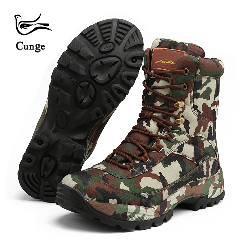 New Men Military Tactical Boots Combat Boots Desert Boots Hiking Camouflage High-top Desert Boots Fashion Work Shoes combat boots desert tan lug sole military boots page 4