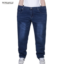 MORUANCLE New Men's Plus Size Jeans Pants Stretchy Denim Trousers For Big And Tall Super Size 27-48 Blue Black