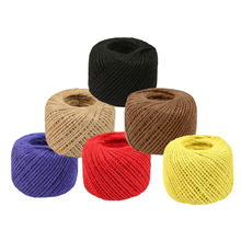 1Roll Colorful 2MM 25 Meters DIY Manual Novel Hemp Twine Rope String Gift Box Cord Wedding Tags Decoration Wrap Decor