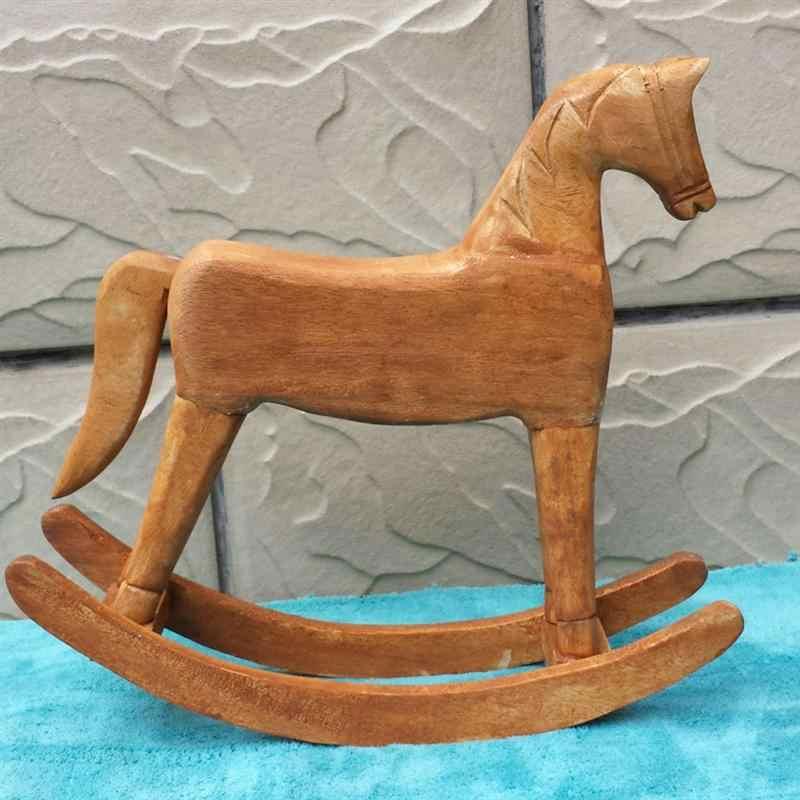 1 шт., новые вырезанные из дерева, лошадка-качалка, поделка рукоделие для детей, декор для детского дня рождения, подарок для детей, домашний декор A3