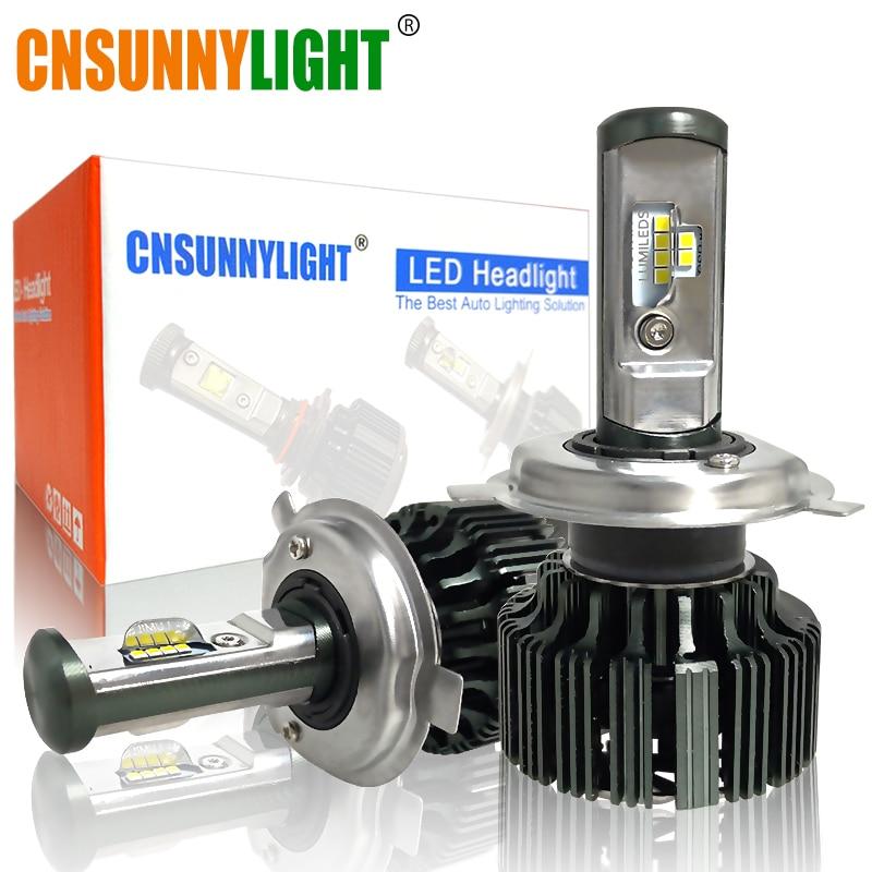 Cnsunnylight H4 H7 H11 H1 csp LED 9005/HB3 9006/HB4 H13 9004 9007 H3 8000Lm автомобиля Фары для авто туман фары белый 6000 К 12 В 24 В