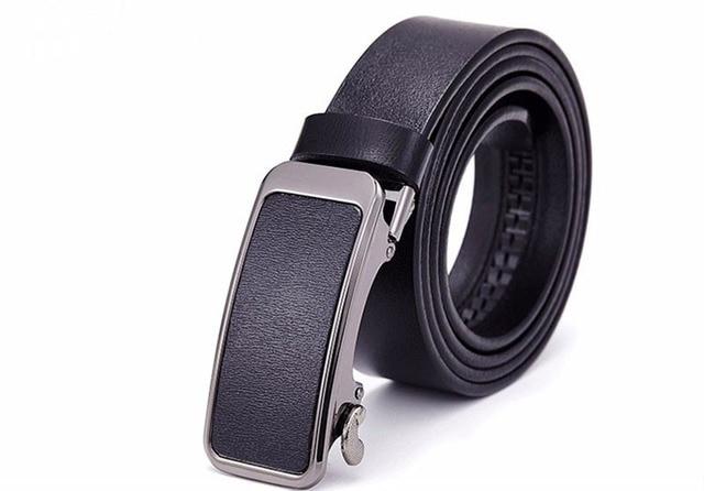 Hongmioo Men Belts Luxury High Quality Automatic Buckle Belt Designer Leather Belt Men Casual Strap With Black Color Wholesale