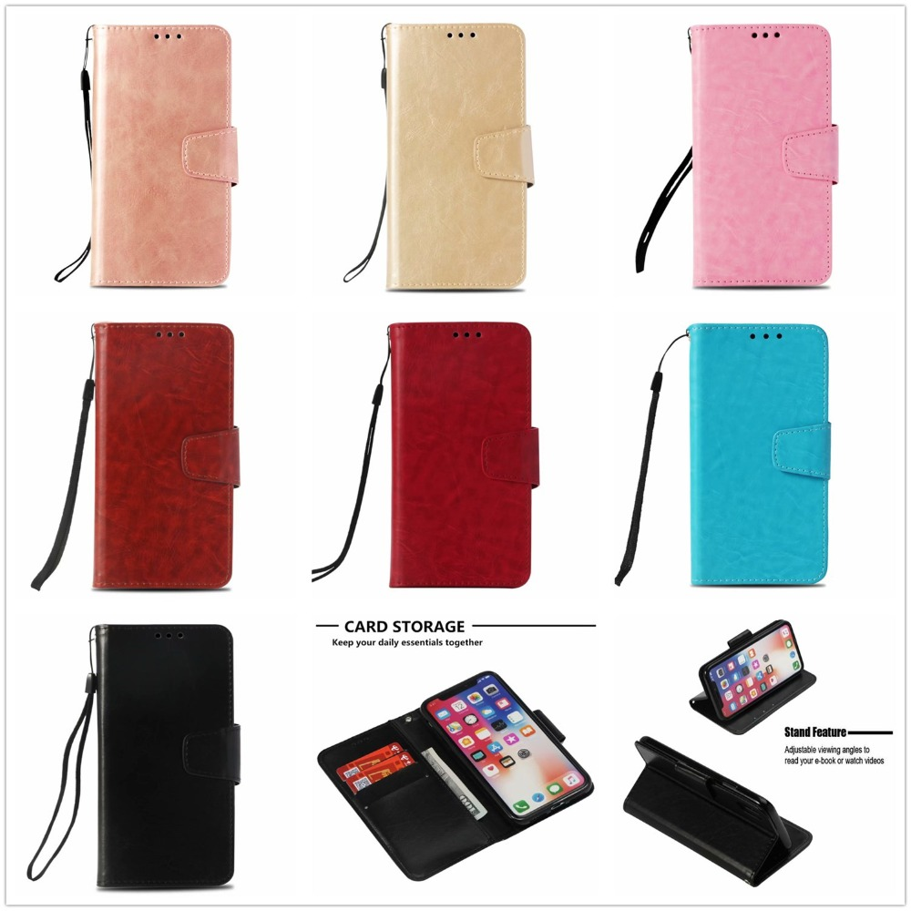 Retro leather Luxury ultra thin book cover flip wallet case For iphone 5C 5 5S SE
