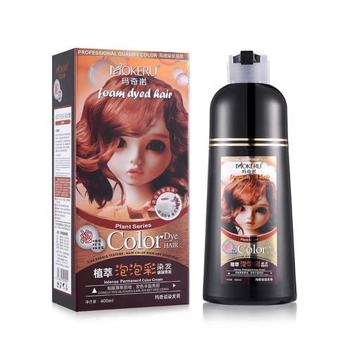 mokeru fashinon permanente natural tintura de cabelo shampoo marrom castanha cafe preto cabelo coloracao shampoo