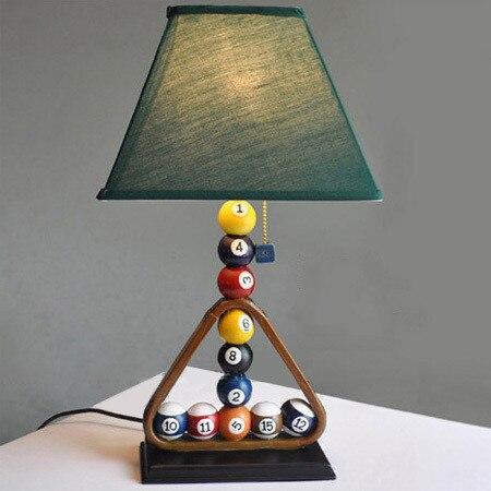Современный Творческий Бильярд лампы спальня ночники личность промышленного стиль исследование Бар одежда Стол lights ZA FG470