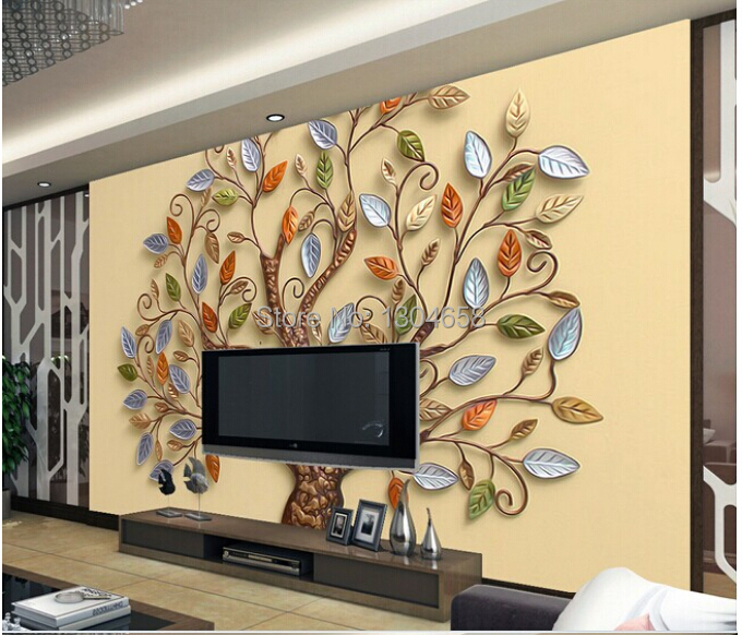 Free shipping custom- modern 3D mural bedroom living room TV backdrop wallpaper abstract reliefs romantic color tree custom any size 3d mural wallpaper european modern minimalist bedroom living room tv backdrop abstract trees 3d photo wallpaper