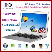 2016 New Laptop Computer, Ultrabook with Intel Celeron J1800 Dual Core 2.41-2.58Ghz, 4GB RAM, 500GB HDD, USB 3.0, HDMI,(Hong Kong)