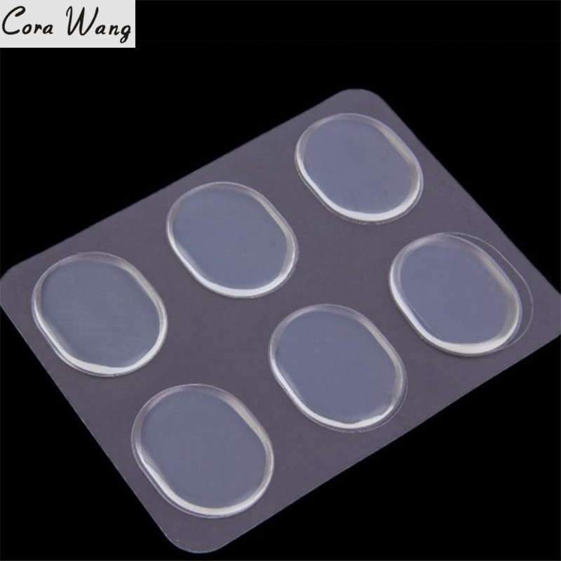 CORA WANG 6PCs = 1 pack  Women Ladies Girls Unixes Silicone Gel Shoe Insole Inserts Pad Cushion Foot Care DD2ISA1001