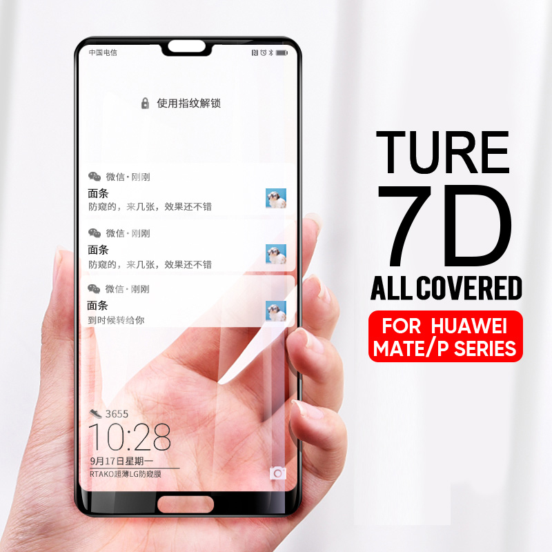 7D Full Tempered Glass For Huawei P10 P20 Lite P20 Pro P10 Plus Screen Protector For Huawei Mate P9 10 Lite 10 Pro Glass Film