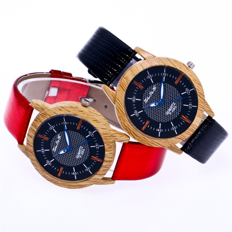 New Wood Watch Women 2018 Luxury Brand Quartz Watch Fashion Women 39 s Wristwatches Ladies Dress Leather Strap Gift Watch Wholesale in Women 39 s Watches from Watches