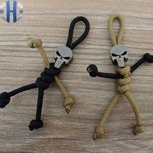 DIY Knife Beads Titanium Alloy Punisher Handmade Umbrella Pendant Skeleton Man EDC Key