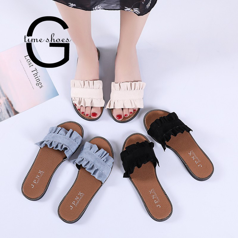 May Sales!DDKK Sandals 2019 Huge Deals!Popular Summer Women Peep Toe Platform Soft Beach Casual Sandals-Rhinestone Flat Sandals Wedge Flip-Flops with Concealed Orthotic Support