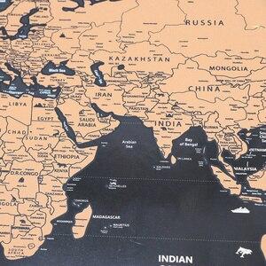 Image 3 - Роскошный постер с картой мира, персонализированный дорожный постер с атласом, новая карта
