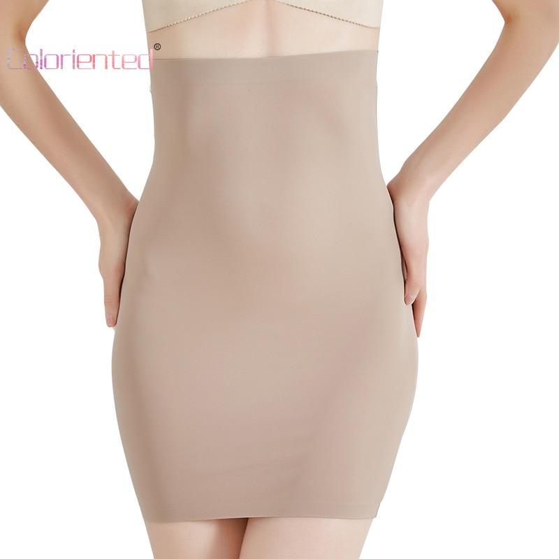 COLORIENTED Wholesale Super Elastic Control Slips High Waist Shaper Women Slimming Underwear Body Shaper Tummy Control Half Slip