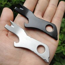 1 Pc 7-in-1 Multifunction Outdoor Tool Crowbar Screwdriver Bottle Opener Wire Stripper Keychain Airline-Safe Stainless Steel стоимость