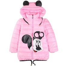 Winter Minnie Girls Jacket Snow Treasure Kids Coats Cotton-padded Clothes Children's Keeping Warm Hoodies Kids Clothing