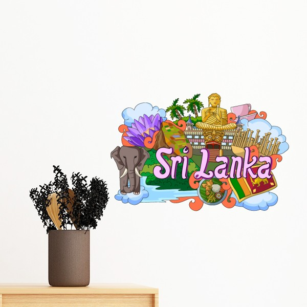 Dambulla Elephant Sri Lanka Graffiti Removable Wall Sticker Art Decals Mural Diy Wallpaper For Room Decal In Stickers From Home Garden On