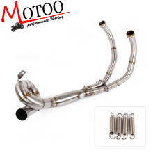 Motoo -Motorcycle Exhaust Modified Scooter Front Pipe Slip-On Full System For yamaha FZ07 MT-07 MT 07 2014-2017 XSR700 2016-201