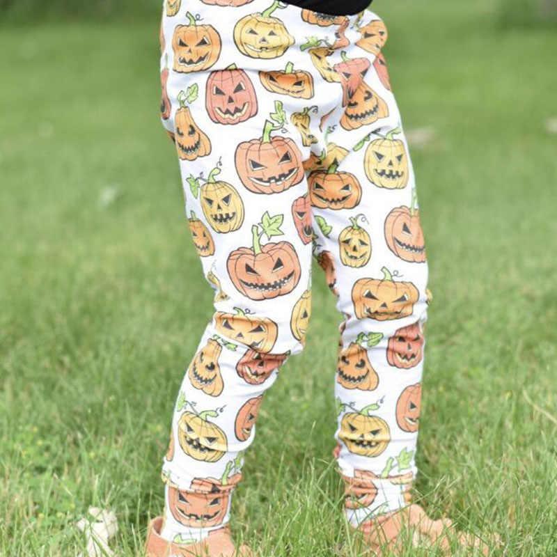 Primavera Outono Inverno Moda Casual Meninas Engraçado Abóbora Hallowen Shantou Impressão Calças Leggings das Crianças Calças Compridas Crianças