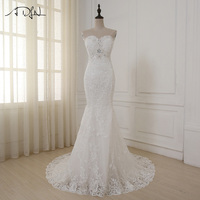 2016 New Custom Made Luxurious Croset Bodice Lace Top Quality Mermaid Wedding Dress Lace Wedding Gown