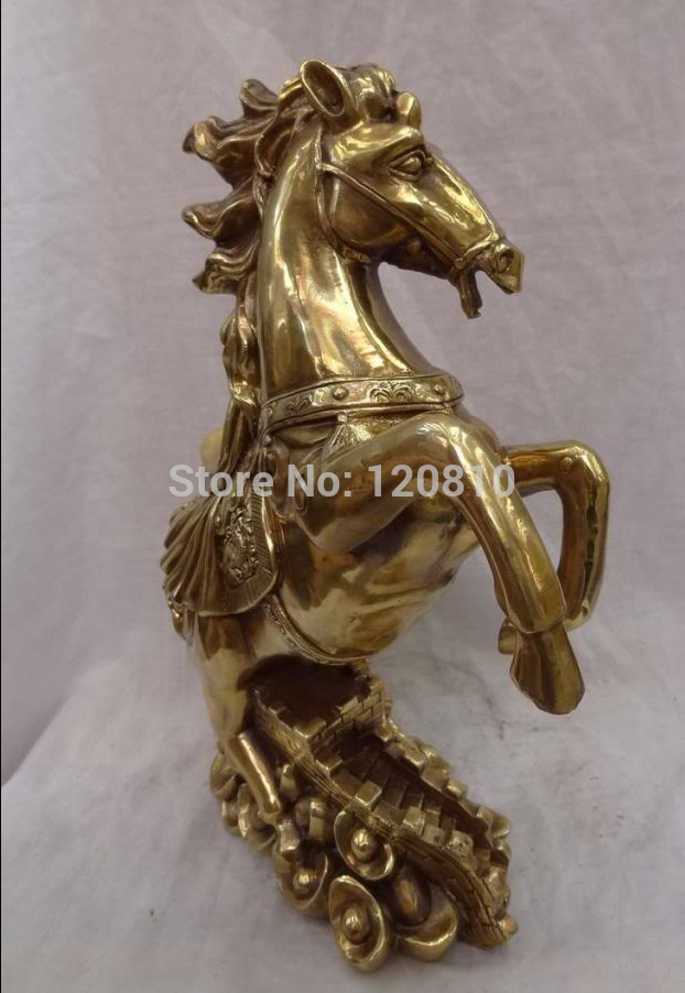 15 Chinese Brass Animals YuanBao Wealth FengShui Horse On Great Wall Statue15 Chinese Brass Animals YuanBao Wealth FengShui Horse On Great Wall Statue