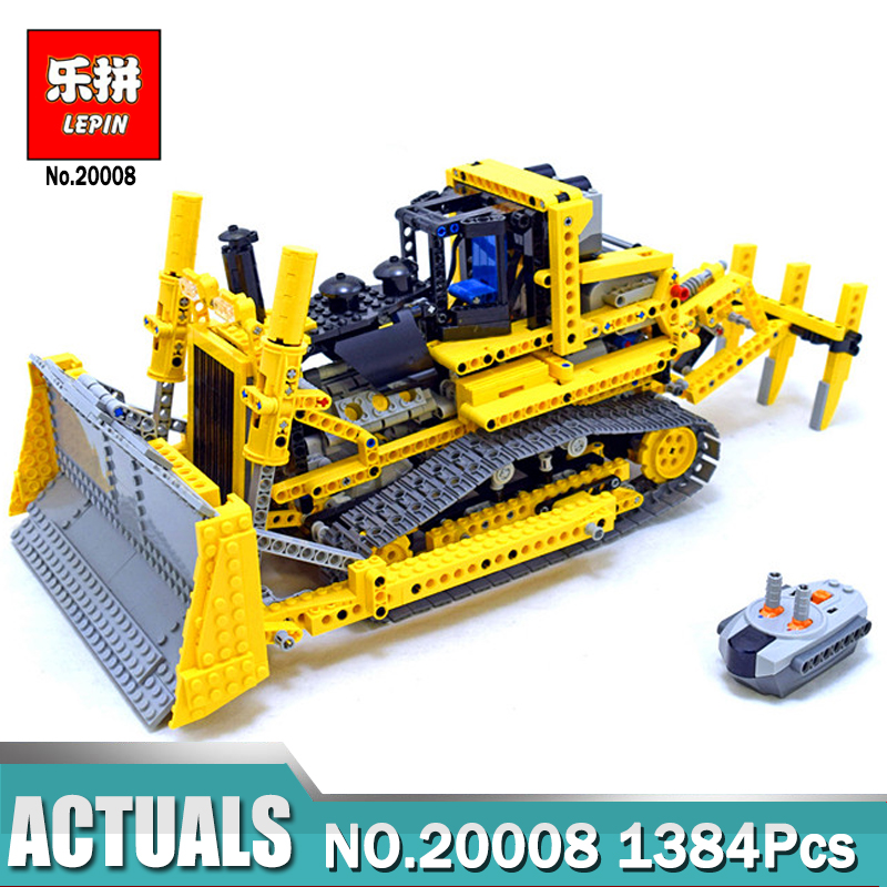 New LEPIN 20008 Technic remote control  the bulldozer Model Assembling Building block Bricks Toys Gifts kits with Legoing 42030 new lepin 20054 4237pcs creator camper van model building kits bricks toys compatible gifts 10220