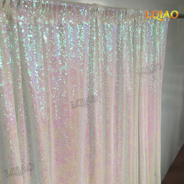 4ftx8ft Glitter White Gold Sequin Backdrop Wedding Photo Booth For Party Baby Shower Decoration