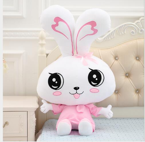 WYZHY Couple bow tie rabbit plush toy large white rabbit Valentine 39 s Day Valentine 39 s Day gift girl 60CM in Stuffed amp Plush Animals from Toys amp Hobbies