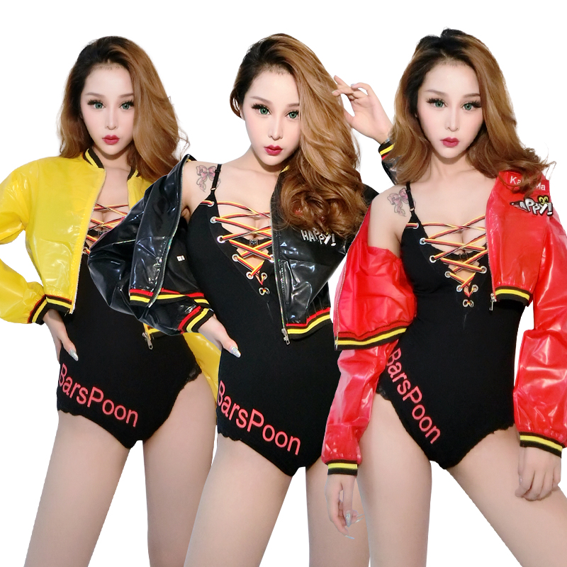 Analytical Jazz Nightclub Dj Ds Singer Clothes Adult Black Bodysuit Coat Sexy Stage Costume Women Modern Hip Hop Clothing Show Wear Dn2918 High Quality And Low Overhead Novelty & Special Use Stage & Dance Wear