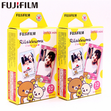 лучшая цена Original Fujifilm 20 sheets Instax Mini RILAKKUMA Instant Film photo paper for Instax Mini 8 7s 25 50s 90 9 SP-1 SP-2 Camera