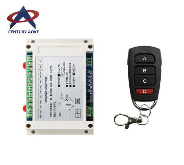 DC 12V  24V 36V  48V 10A 4CH 30A  RF switch Wireless Remote lighting  Control  power switch