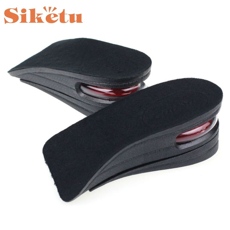 SIKETU New 2 Layer Increase Insole Soft Silicone Air Cushion Insole Lift Pad Orthotics Unisex Invisible Lift Pads Heel