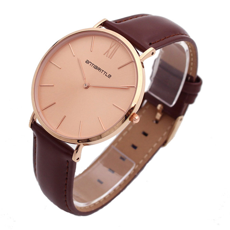 Japan Quartz Luxury Rose Gold Women Watches Men Ultra Thin Leather Mesh Stainless Steel Magnet Strap