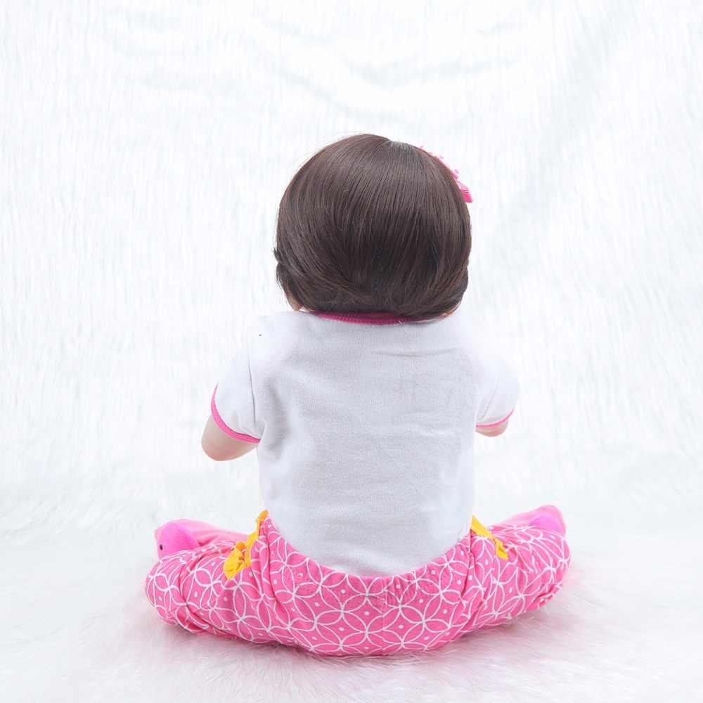 57 см Реалистичная кукла для возрождения, силиконовая кукла для тела, подарок на день рождения для девочек