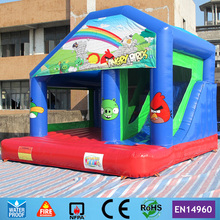Free Shipping Commercial Animal theme Inflatable Jumping Bouncer Castle Playground with Slide for kids