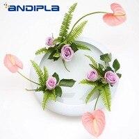Exquisite White Ceramic Vase Flower Pot Tabletop Hydroponic Planters Aroma Essential Oil Bottle Japanese Style Ikebana Flowerpot