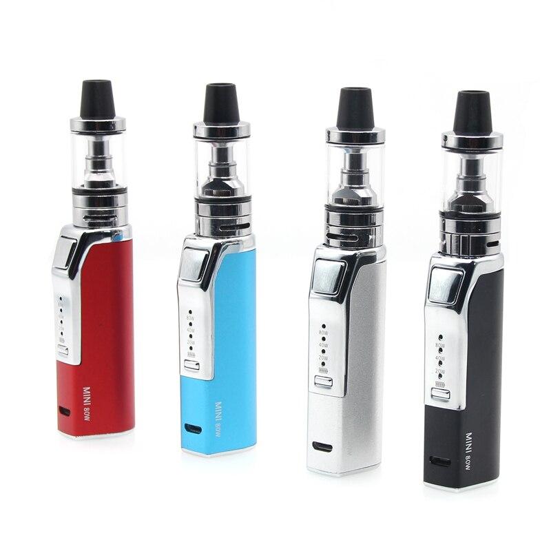 High quality 80W Electronic Cigarette Vape Mod Box Vaporizer Hookah Vaper Shisha Pen E Cig Smoking Kit Mechanical Cigarette