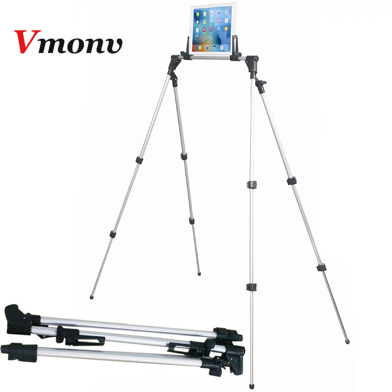 Vmonv Tripod Tablet Phone Stand for IPAD Pro 12.9 Aluminum Alloy Flexible Scalable Arm Stand for 4-13 Inch Iphone Ipad SamsungVmonv Tripod Tablet Phone Stand for IPAD Pro 12.9 Aluminum Alloy Flexible Scalable Arm Stand for 4-13 Inch Iphone Ipad Samsung