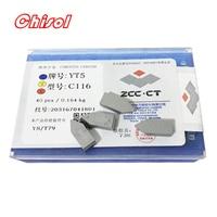 free shipping ZCC.CT 40pcs/box C116 YT5 YW2 YW1 YT15 YT14 YG6 YG8 carbide brazed inserts welding tips blade cutter cutting tools