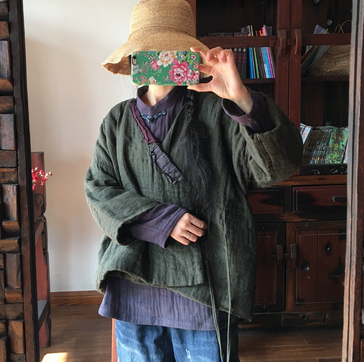 Army Femmes Lâche Green Manteau Rembourré Spliced Laides Vintage Patchwork 2019 Femelle De Court Survêtement Rétro Parkas 6grwq6x