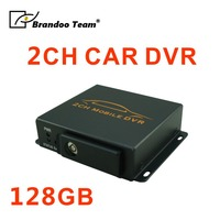 12v sd card car dvr 2CH car dvr with motion detection from Brandoo